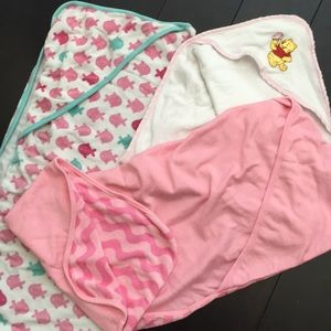 Other - Baby Girl set of 3 towels